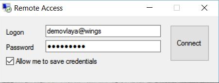 Unos podataka za logovanje na server